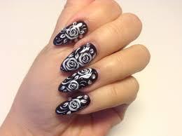refill gel nail with rose flower nail art sabrina zoetermeer