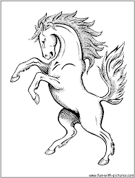 horse coloring pages the sun flower pages