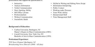Sample Journalism Resume by Tv Reporter Resume Objective Tv Reporter Resume Sample Resume