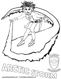 arctic storm allergy superheroes coloring sheet