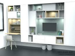 bibliothèque avec bureau intégré meuble bibliotheque bureau integre meubles de composition ha 1 4