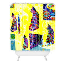 Deny Shower Curtains Cat Lover Shower Curtains A Gift For Cat Lovers To Enjoy