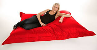 extra large giant beanbag in red xxxl 180x140cm indoor