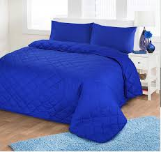 King Size Quilted Bedspreads Luxury Soft Plain Dyed Polycotton Quilted Bedspread Bed Quilt
