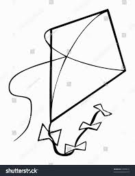 exclusive inspiration kite outline printable template clipart pic