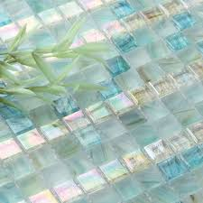 Rivah Flooring Inc Glass Tile Backsplash Seamless Blue Tiles - Teal glass tile backsplash