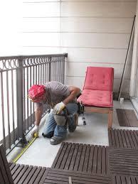 watch installing balcony floor tiles u2014 there u0027s still time