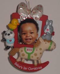 1997 hallmark baby u0027s first christmas ornament 6492 basket keepsake