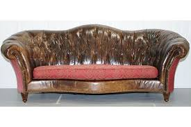 used chesterfield sofa paul brock heritage leather chesterfield sofa serpentine curved back