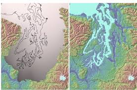 Map Of World Before Ice Age by Glacial History Of Puget Sound