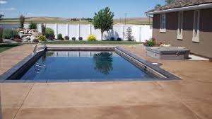 cool concrete pool deck with extraordinary outdoor décor plan