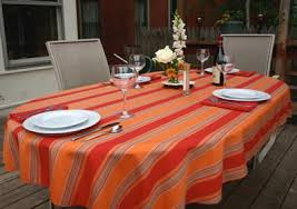 oval tablecloth outdoor living tablecloths easy care wear