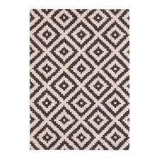 Modern Floor Rug Black Aztec Tufted Wool Rug Modern Floor Rugs