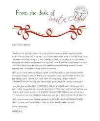 santa claus letters free printable letters from santa his elves the shady