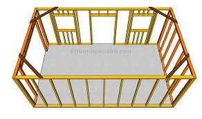 installing the wall frames sheds and garage plans pinterest