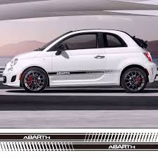 subaru side decal car styling abarth side skirt sticker racing stripe body stickers