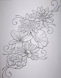 tattoo flower drawings flower outline tattoo best 25 flower outline tattoo ideas on