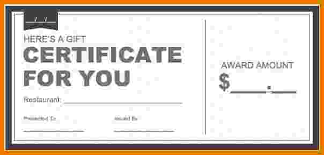 7 microsoft word gift certificate template itinerary