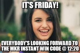 Mkr Memes - it s friday rebecca black meme on memegen