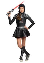 Halloween Costume Tween Girls Darth Vader Tween Dress Costume