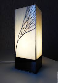 Handmade Table Lamp Buy Tiffany Table Lamp Winter Sunrise Stained Glass Lamp