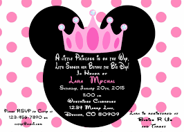 How To Make Minnie Mouse Invitation Cards Minnie Mouse Princess Baby Shower Invitation Printed With