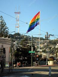 Usa Rainbow Flag Rainbow Flag Pride Castro San Francisco U2013 Stock Editorial