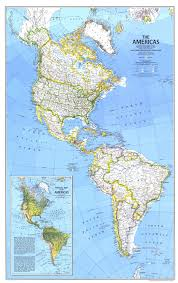 Latin America Physical Map by National Geographic The Americas Map 1979 Maps Com