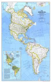 National Geographic Map National Geographic The Americas Map 1979 Maps Com