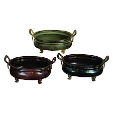 shop woodland imports 12 in x 6 in black brown rustic green metal