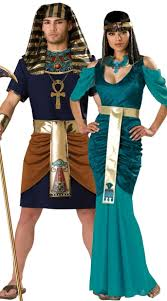 Cleopatra Halloween Costumes Adults Egyptian Rulers Couples Costume Pharaoh Queen Couples Costume