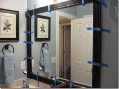 Frame A Bathroom Mirror With Molding Diy Frame The Mirror In The Bathroom Instead Of