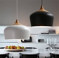 Ikea Lighting Kitchen by Modern Pendant Lights Wood And Aluminum Pendant Lamp Black White