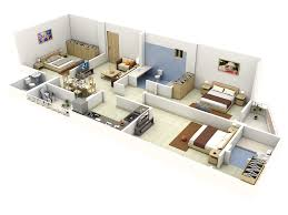 Apartment Block Floor Plans Impressive Floor Plans In 3d Home Design