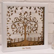 personalised wooden layered family tree wall by twist