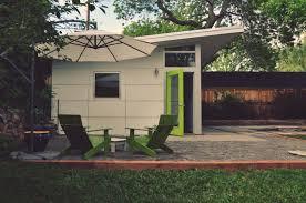 backyard garage modern prefab buildings garages modular home additions