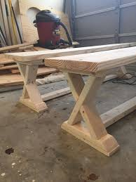 diy x brace bench free u0026 easy plans bench woodworking and woods