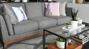 article timber sofa review high style low price article ceni sofa in pyrite gray