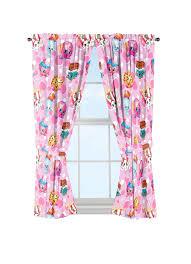 shopkins window curtains 2 piece
