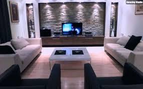 ideen für wohnzimmer natursteinwand im wohnzimmer beleuchtung idee wohnraum