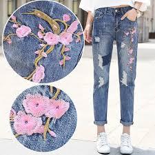 aliexpress buy size 7 10 vintage retro cool men 2017 new vintage retro pink flower embroidered women denim