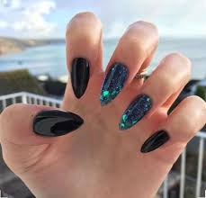 best 20 black almond nails ideas on pinterest dark acrylic
