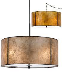 mica drum pendant light plug in lamp shade pro