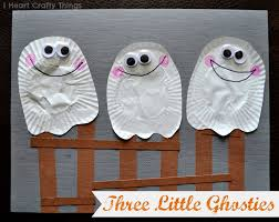 30 days of halloween three little ghosties kids craft i heart