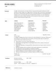 restaurant line cook resume example chef sample examples sous jobs