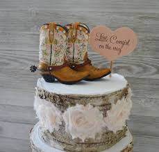 girls cowboy cowgirl boot cake topper birthday baby shower
