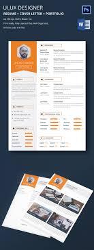 resume portfolio template graphic designer resume cover letter portfolio template for