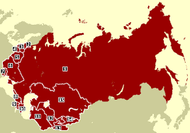 map of ussr collapse of ussr 10 years on