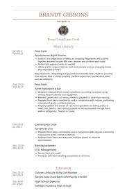 prep cook resume samples visualcv resume samples database