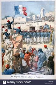 History Of The French Flag The Raising Of The French Flag At Timbuktu 1894 Artist Frederic